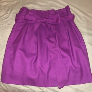Purple J. Crew mini skirt with bow